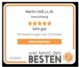 Wer kennt den Besten Rechtsanwalt Martin Voß, LL.M.